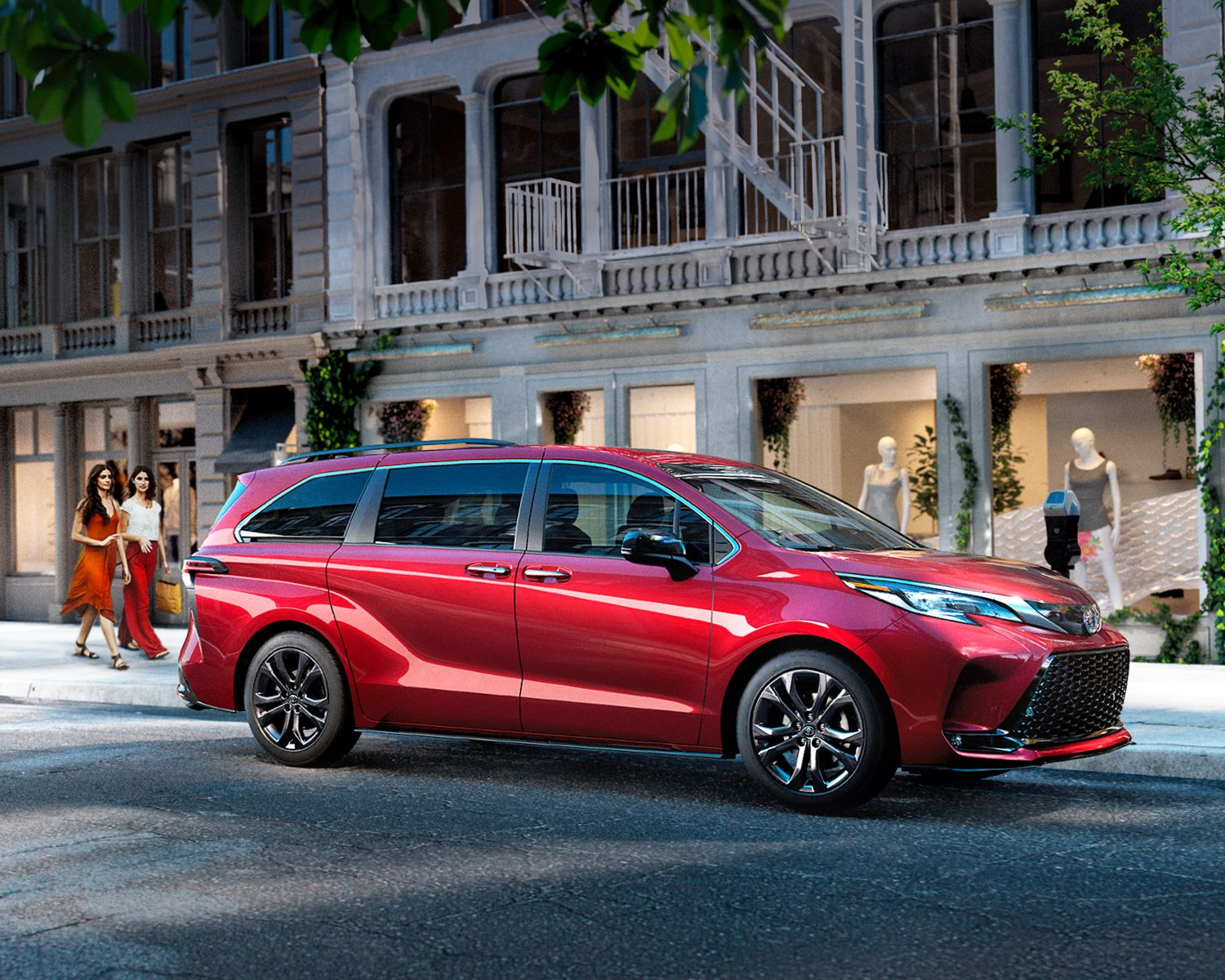 Sienna XSE shown in Ruby Flare Pearl