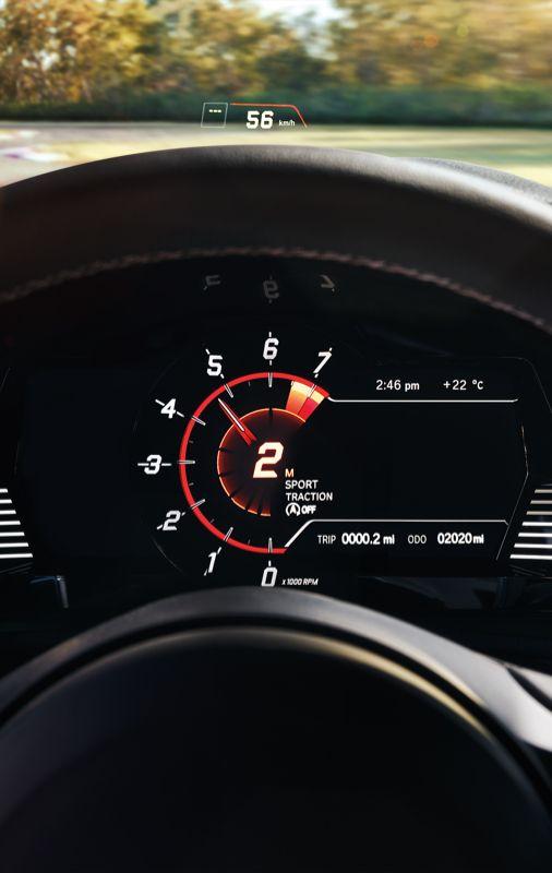 2022 GR Supra 3.0 digital combi-meter