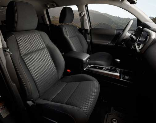 Tacoma Double Cab Trail Edition Interior shown in Black Fabric