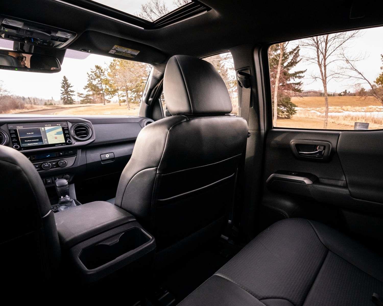 Tacoma TRD Pro Interior shown in Black Leather