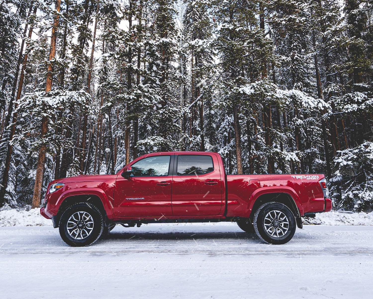 Tacoma TRD Sport shown in Barcelona Red Metallic