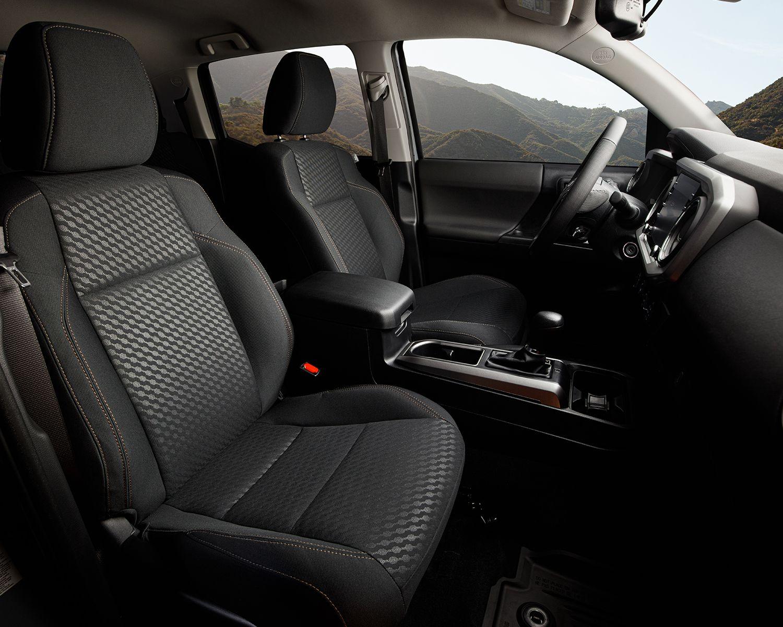 Tacoma Double Cab Trail Edition Interior shown in Black Fabric