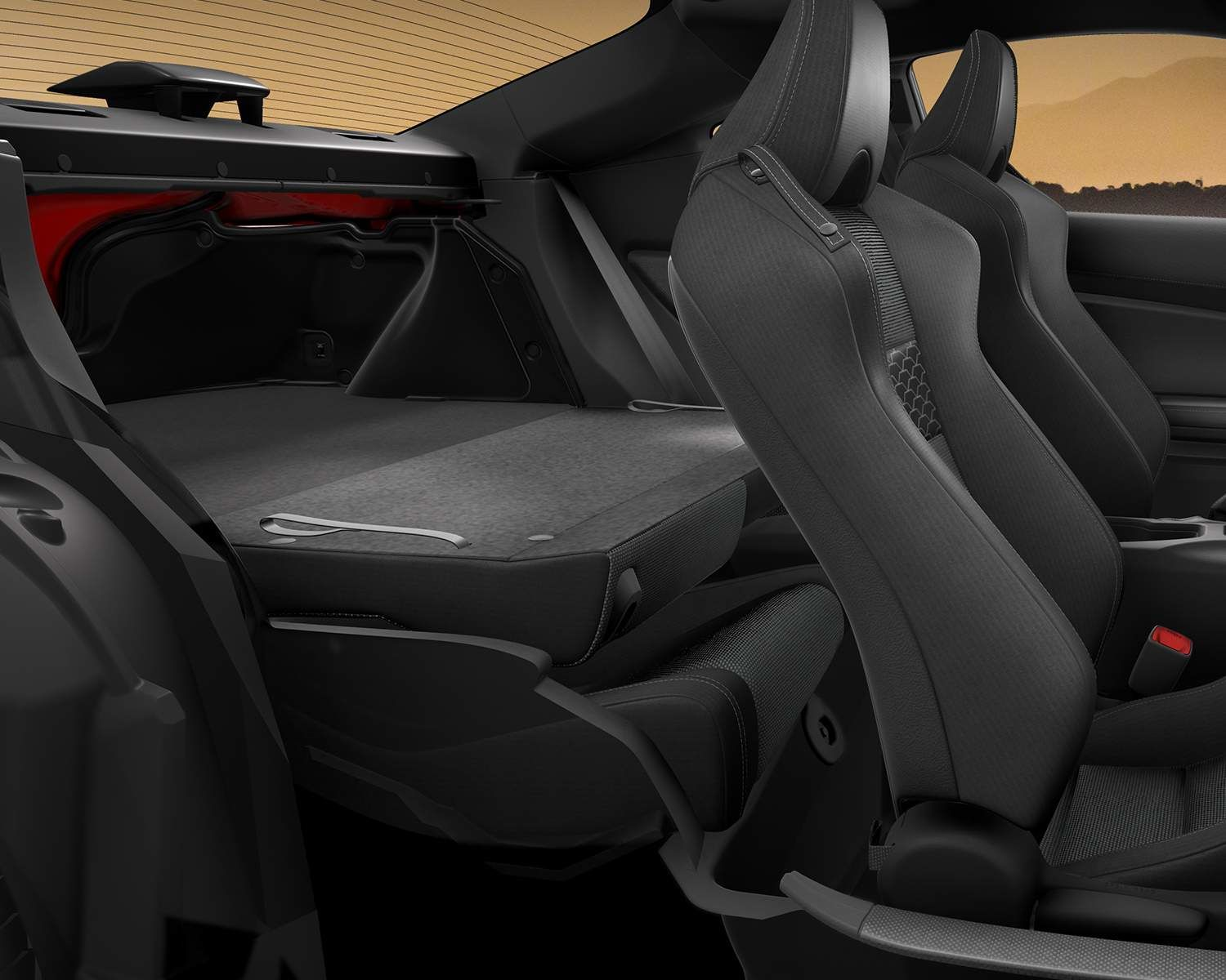 Toyota 86 Interior Seating and Cargo Space