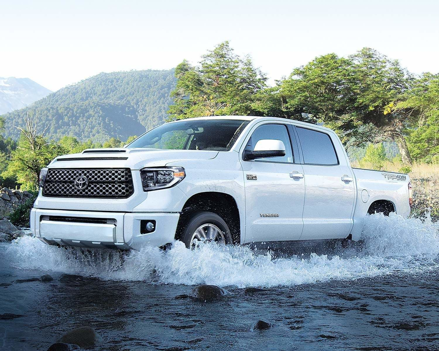 Tundra CrewMax TRD Sport Premium Package shown in Super White