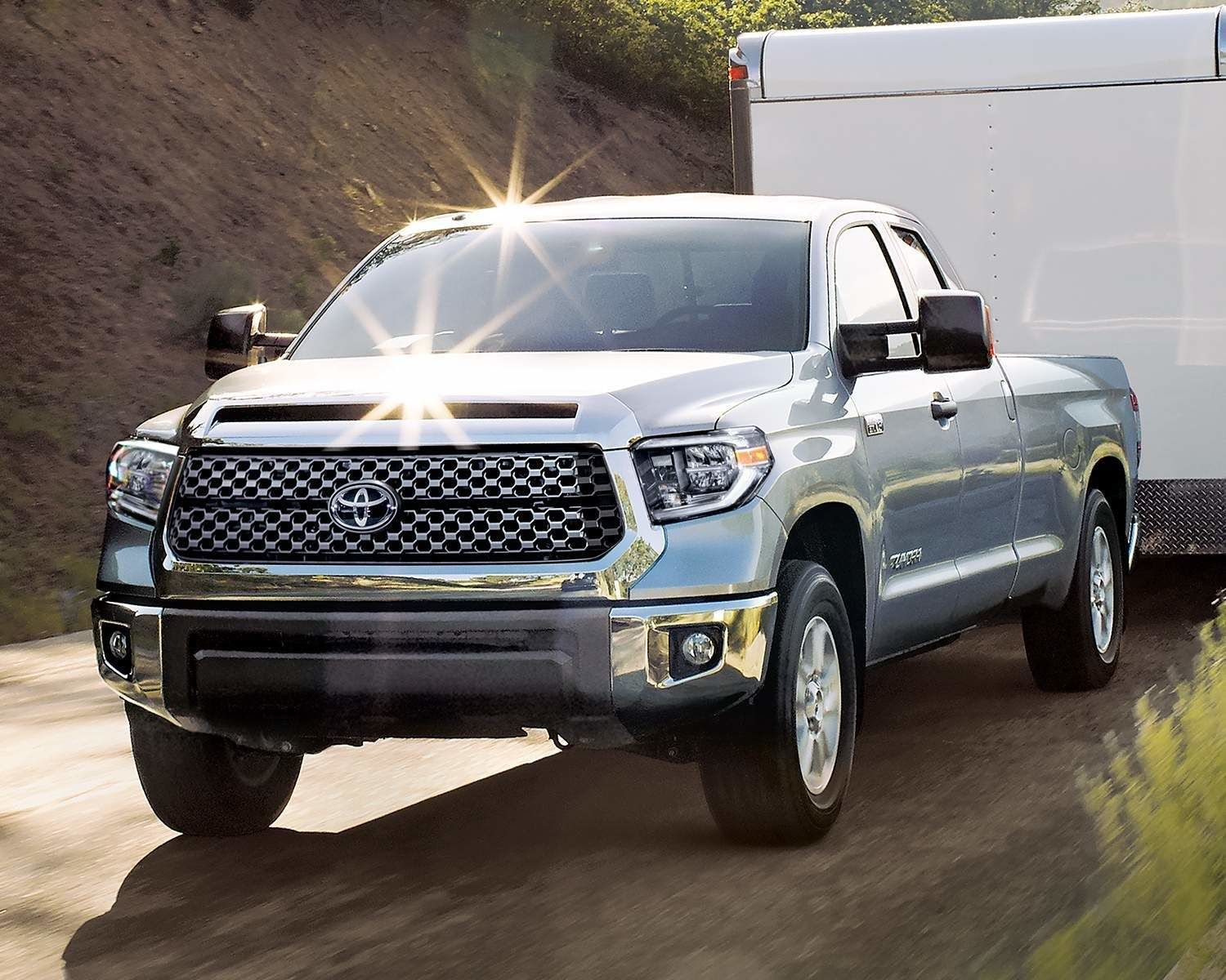 Tundra Double Cab SR5 Plus TRD Off Road Package shown in Silver Sky Metallic