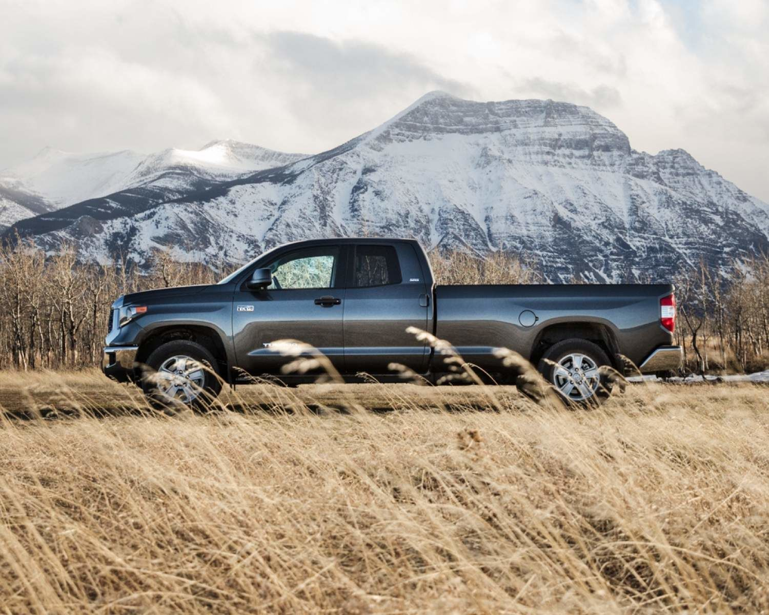 Tundra Double Cab LB SR5 Plus shown in Magnetic Grey Metallic