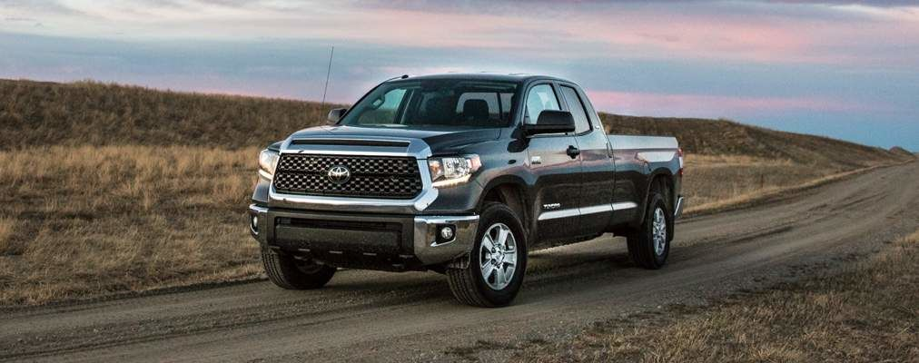 Tundra Double Cab SR5 Plus shown in Midnight Black Metallic