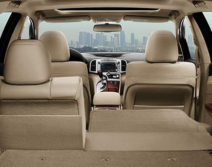 Venza AWD Limited, shown in Ivory Perforated Leather, with 60/40 Split Fold Rear Seats