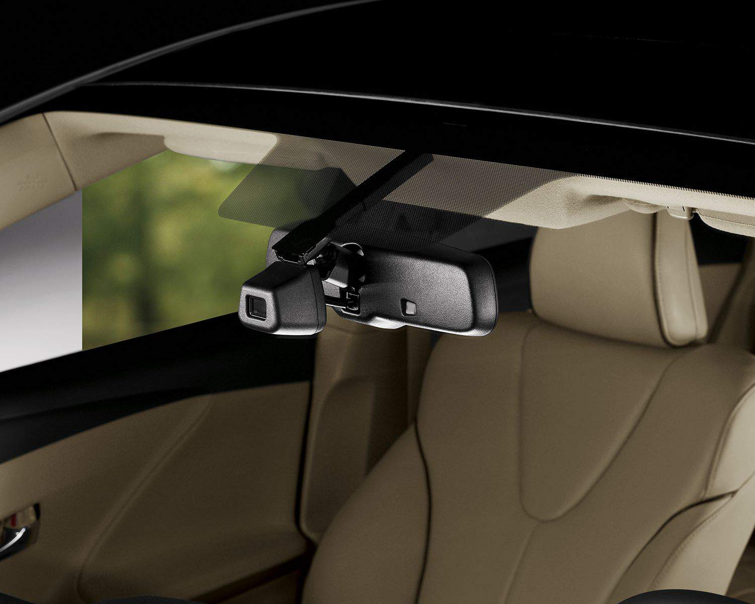 Venza's Auto-Dimming Rear View Mirror with Compass