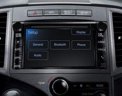 Système audio à écran tactile de 6,1po et connectivité Bluetooth de série de la Venza