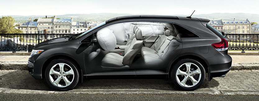 Venza includes 7 standard airbags