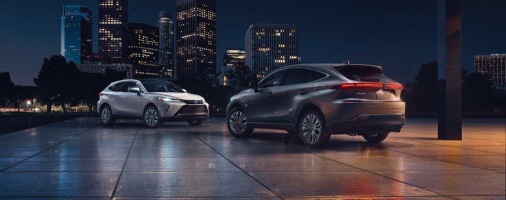 Venza Limited in Blizzard Pearl and Venza Limited in Coastal Gray Metallic
