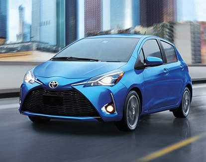 Yaris Hatchback in Blue Eclipse Metallic