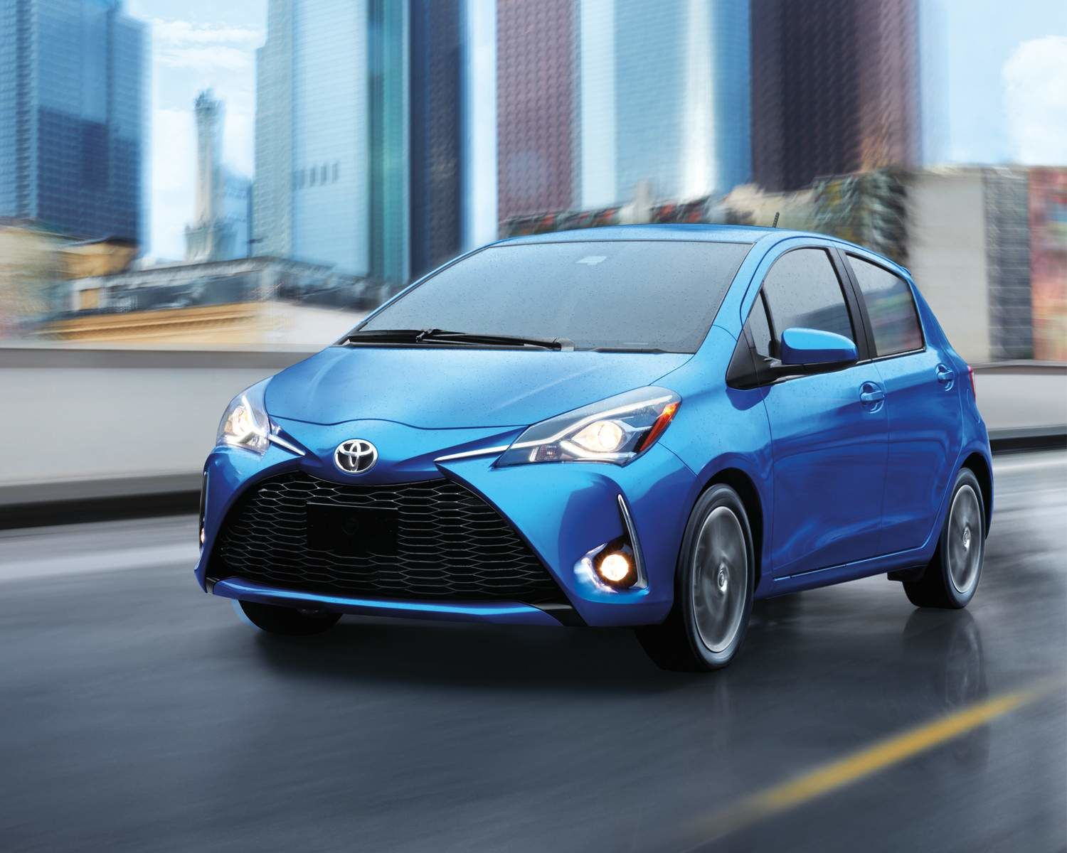 Yaris Hatchback in Blue Eclipse Metallic