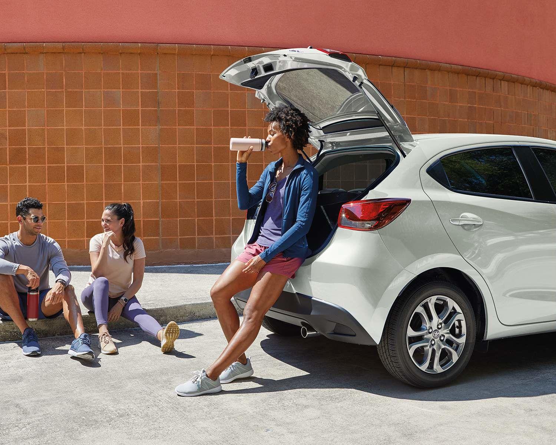 Yaris Hatchback XLE shown in Frost