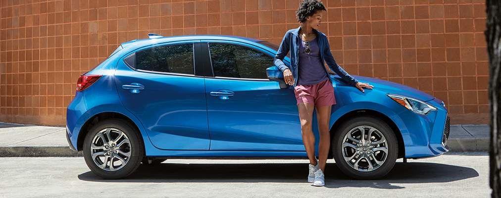 Yaris Hatchback XLE shown in Sapphire