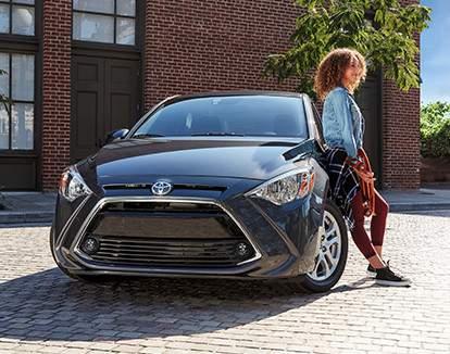 Yaris Sedan Premium shown in Stone Grey Metallic