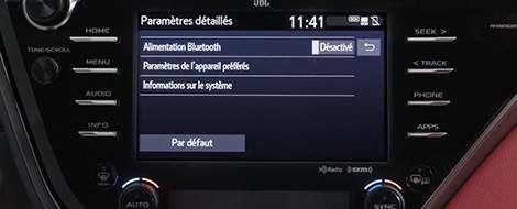 Dépannage Bluetooth pour Entune 3.0 Audio