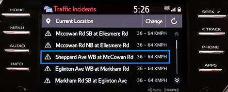 App Suite Connect : Incidents de la circulation