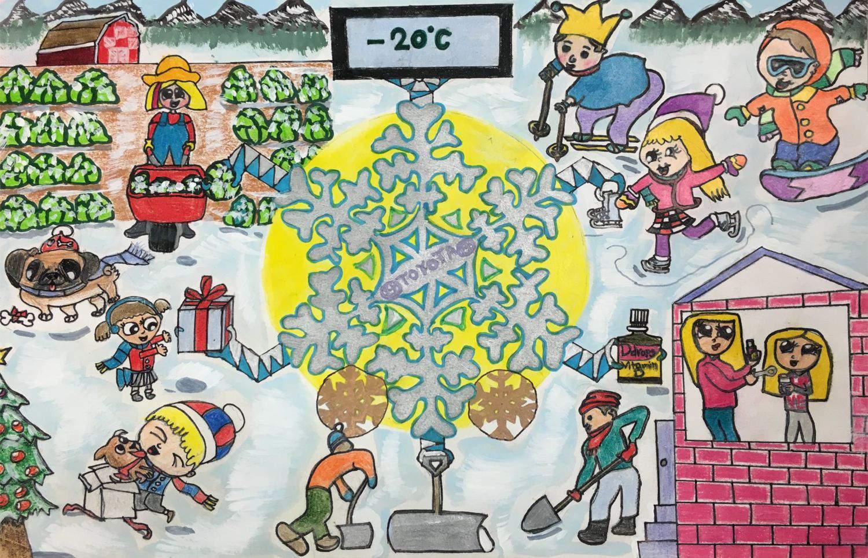 Snowflake Car by Diyaana(age7)