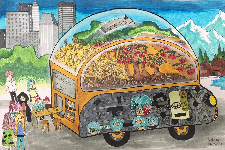 La banque alimentaire mobile (Ruolin, 13 ans)