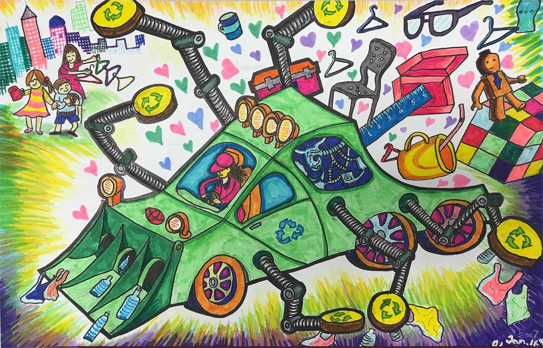 La recycleuse de plastique (Sherry, 11 ans)
