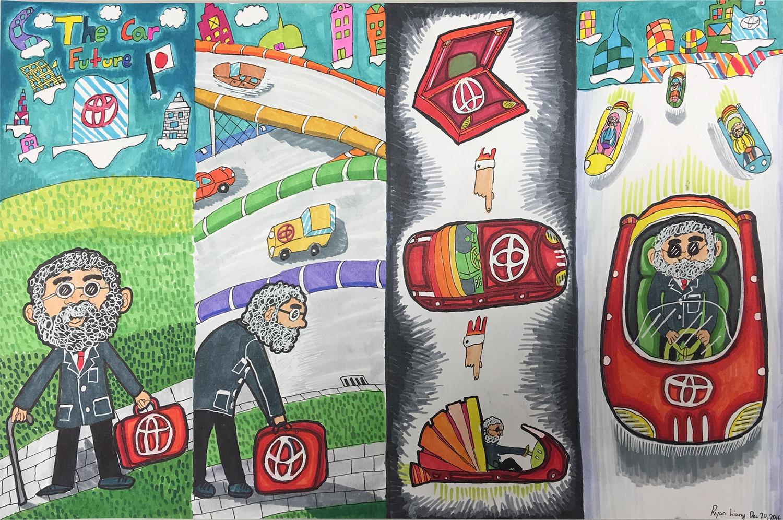 La voiture-valise (Ryan, 10 ans)