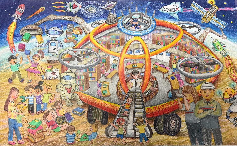 La bibliothèque ambulante Toyota (Noelle, 13 ans)