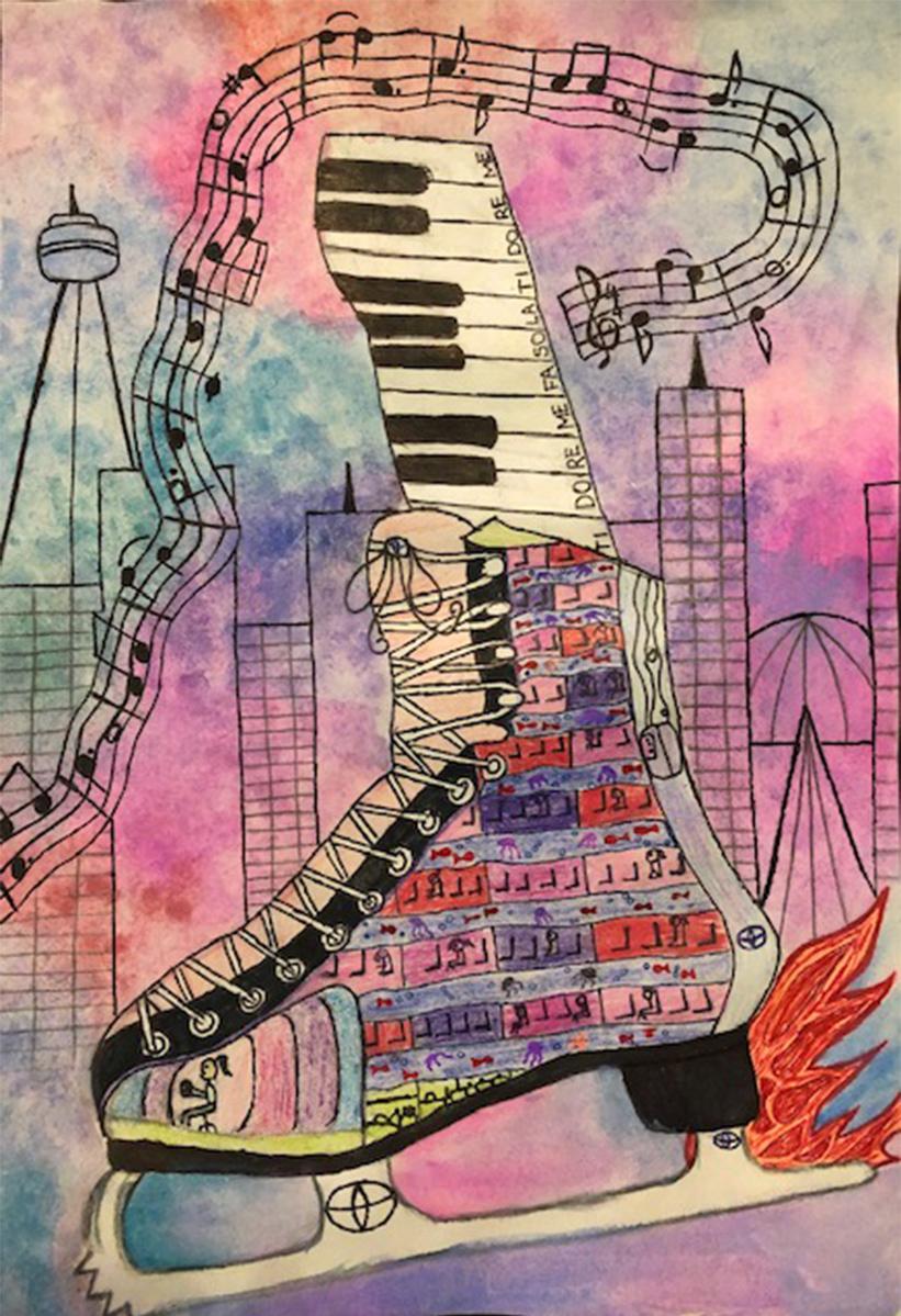 G Sharp Symphony on Ice Esha Kumar, 11 ans