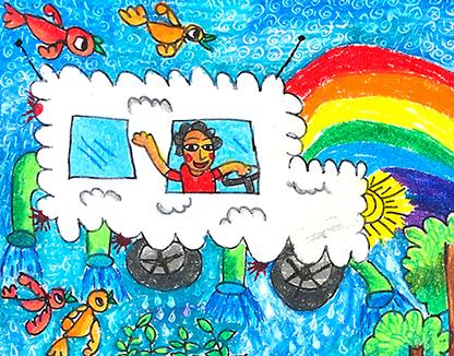 My Rain Car Abraham Pramanik, 7 ans