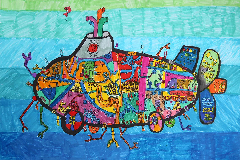 Recycling Submarine Car Jacob Gaochen, age 6