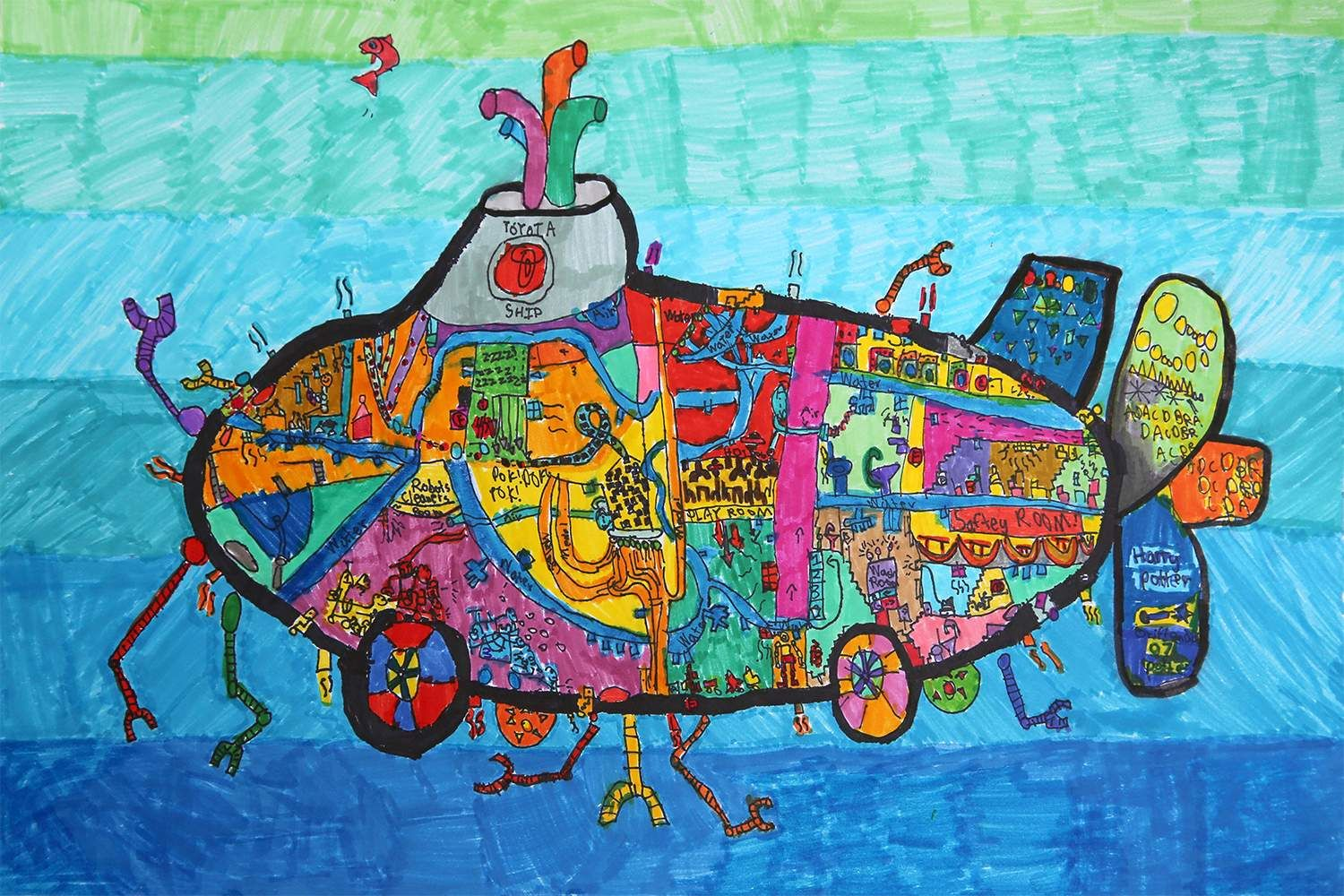 Recycling Submarine Car Jacob Gaochen, age 6
