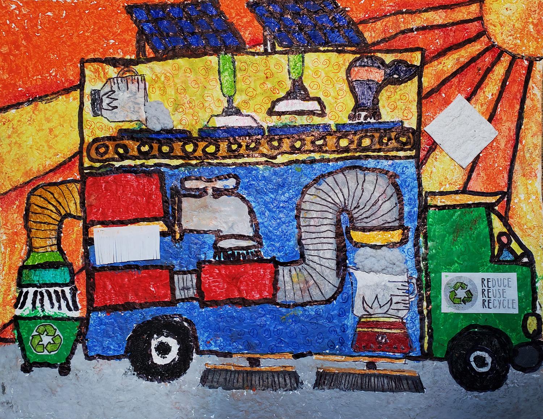 Earth Saver Car, Juan Miguel Gallermo, 7 ans