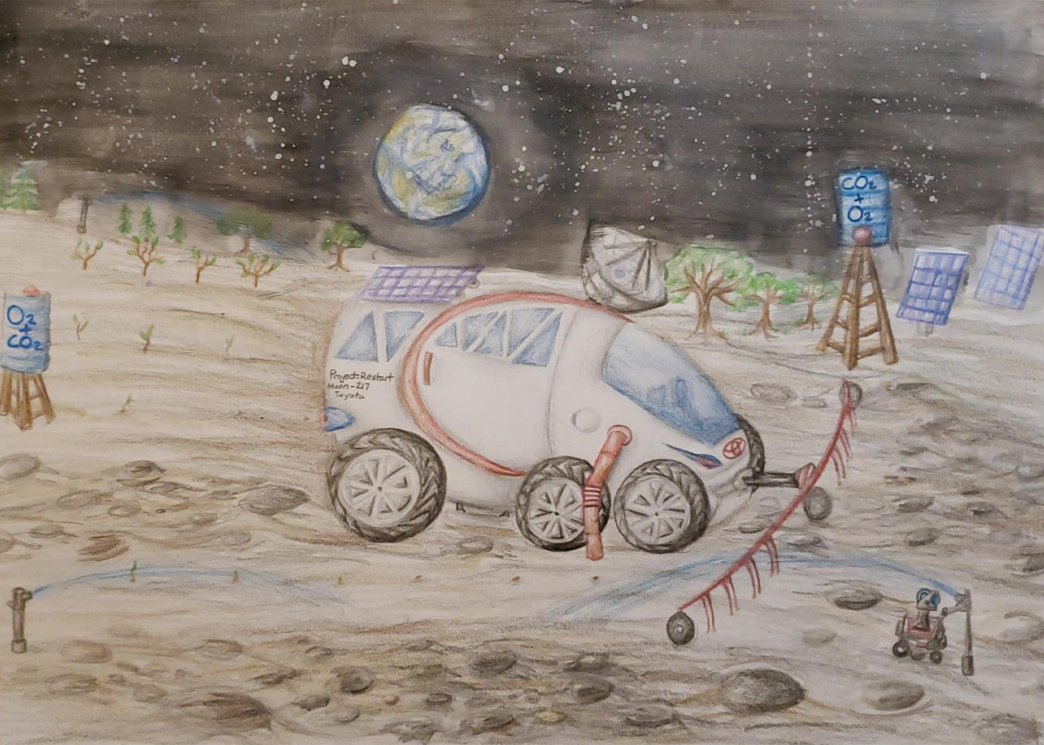Moon Planter, Jaelie Young, age 13