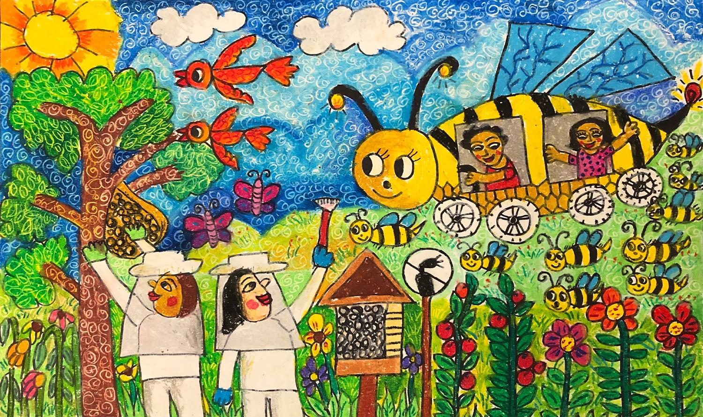 My Bee Car, Abraham Pramanik, age 8