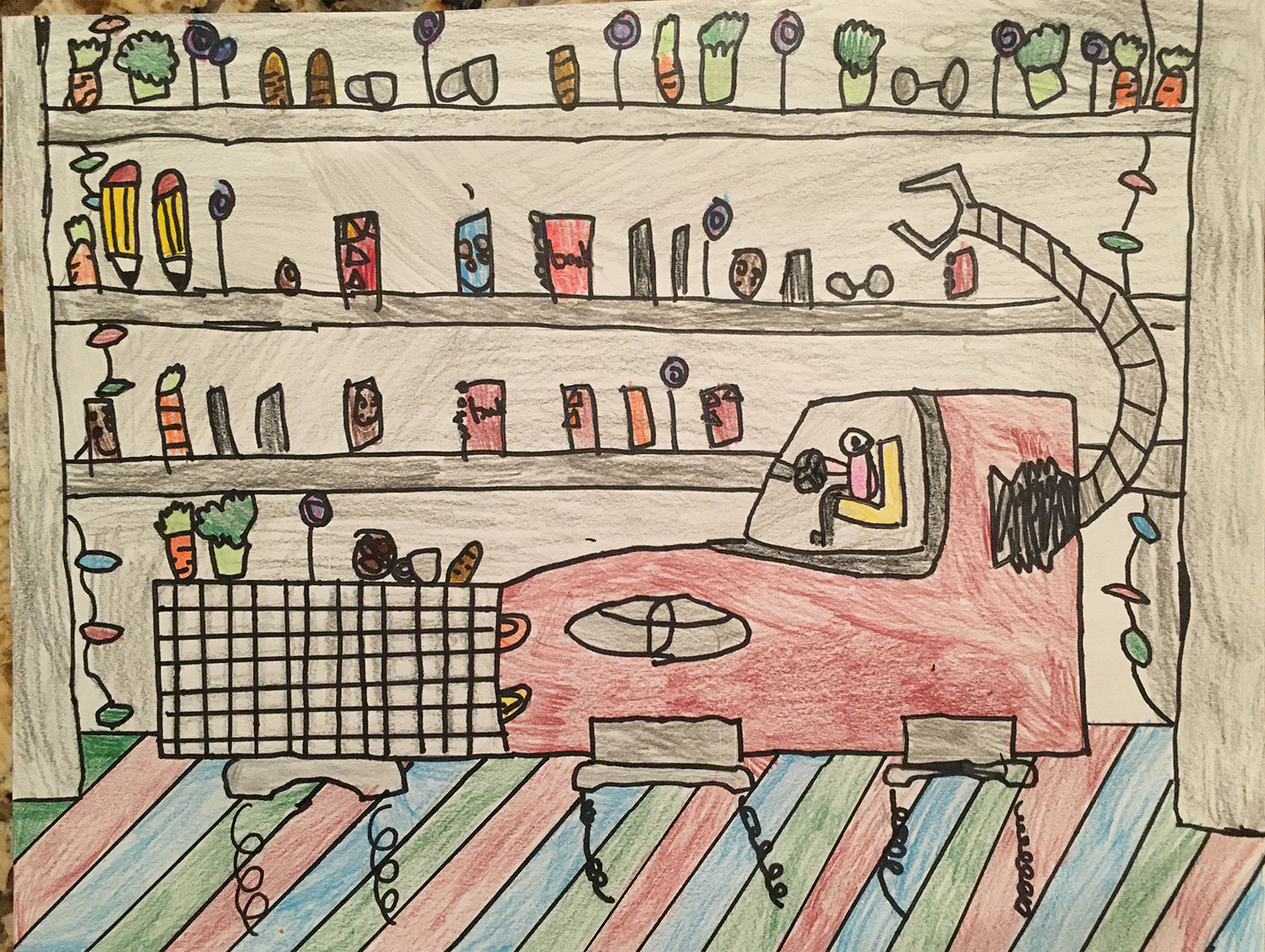 The Shopping Car, Emily Hao, age 6