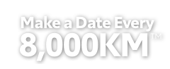 Make a Date Every 8,000KM