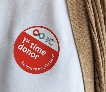 1st time donor logo