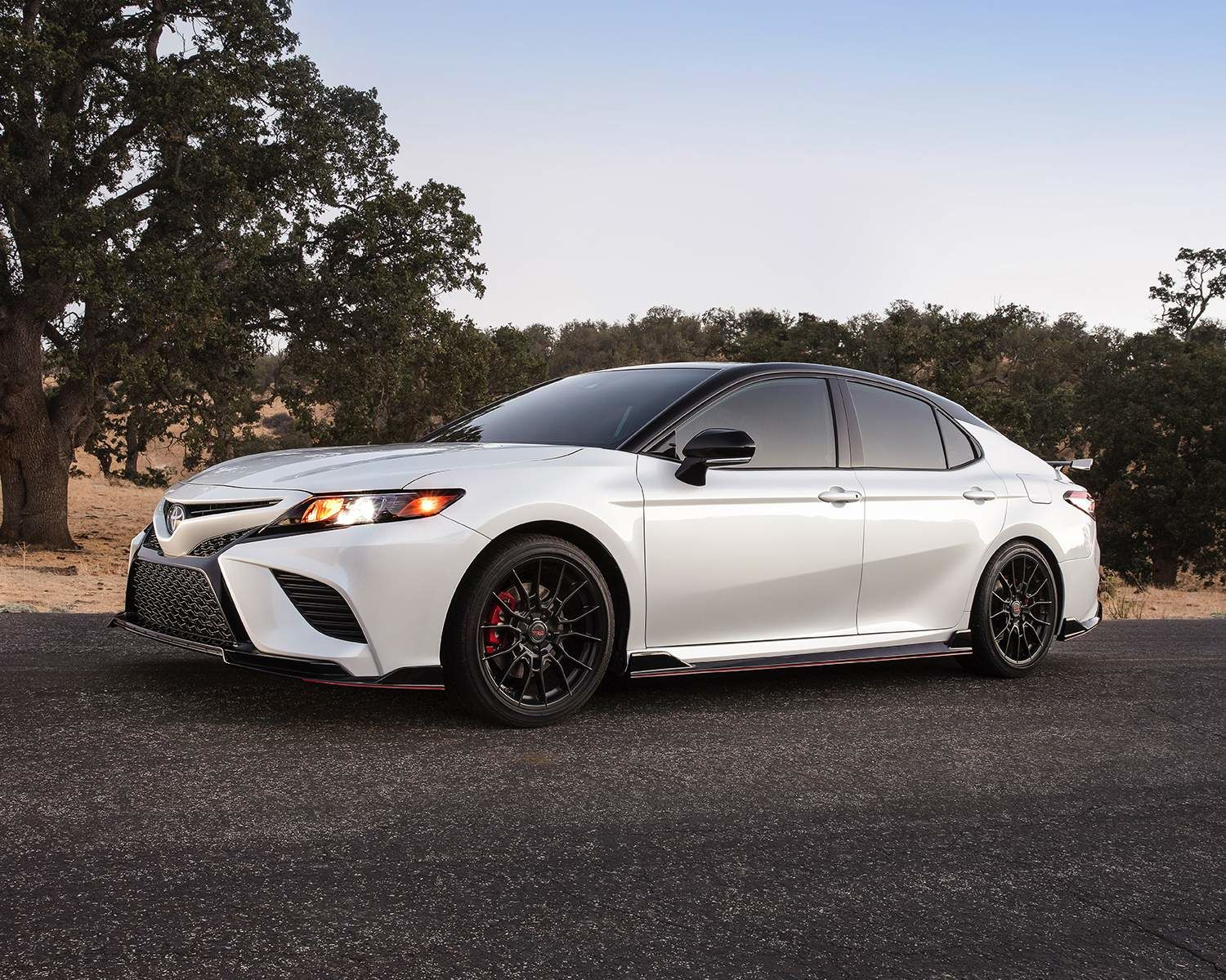 Camry TRD shown in Super White