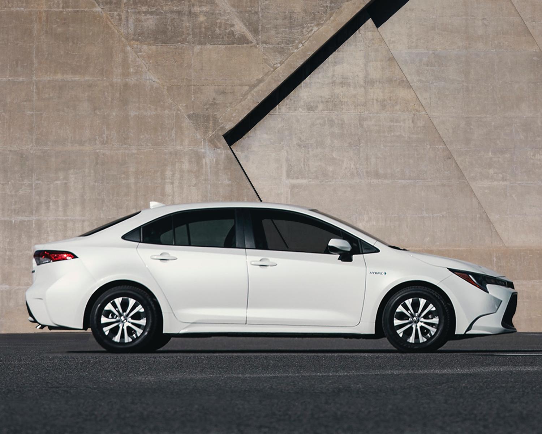 Corolla Hybrid shown in Super White