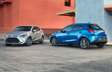 Yaris Hatchback shown in Icicle and Sapphire