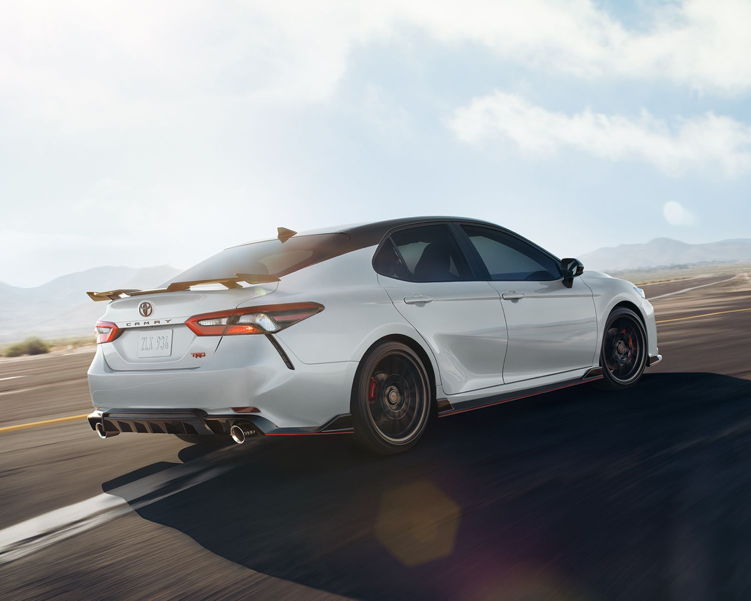 Camry XSE V6 FWD TRD shown in Ice Edge with Black Roof