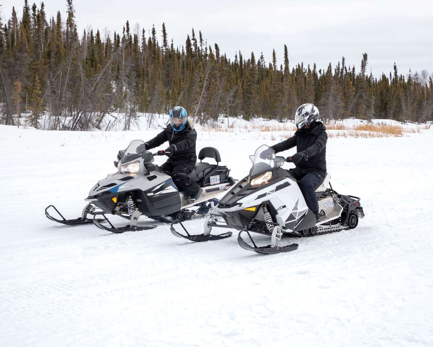 Snowmobiling in Yellowknife, Northwest Territories