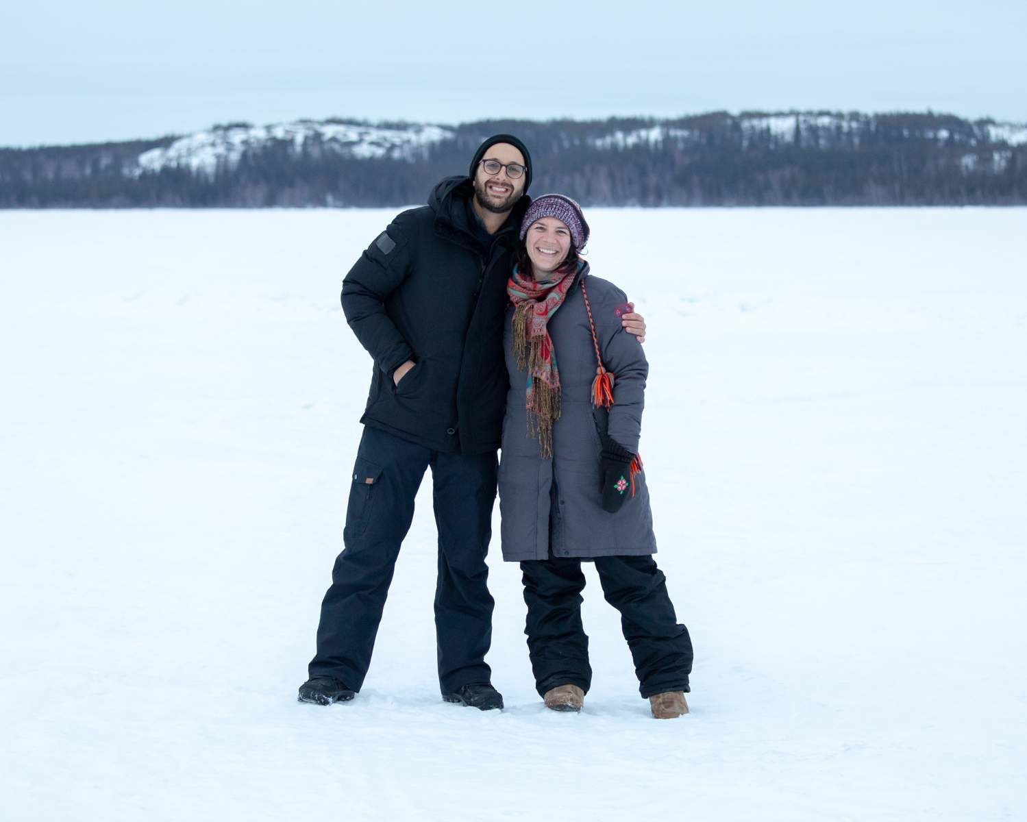 Michael and Rachelle in Yellowknife, Northwest Territories