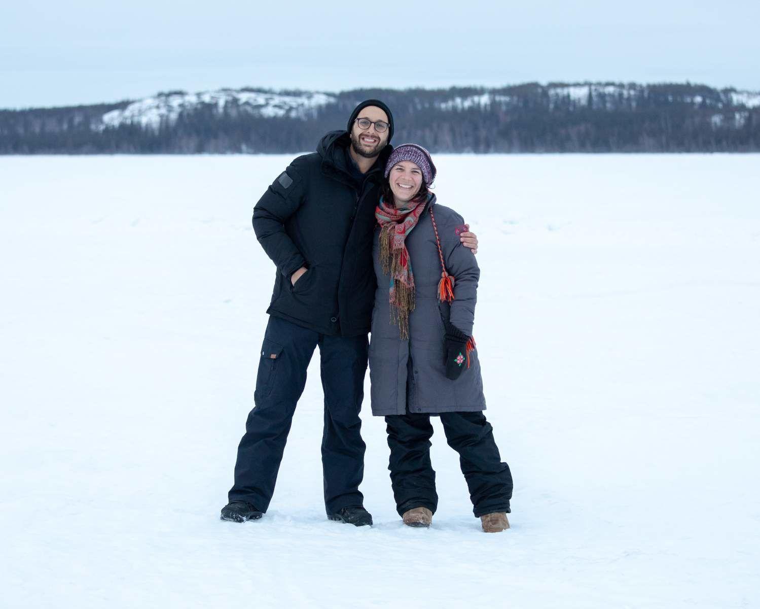 Michael and Rachelle in Yellowknife, Northwest Territories