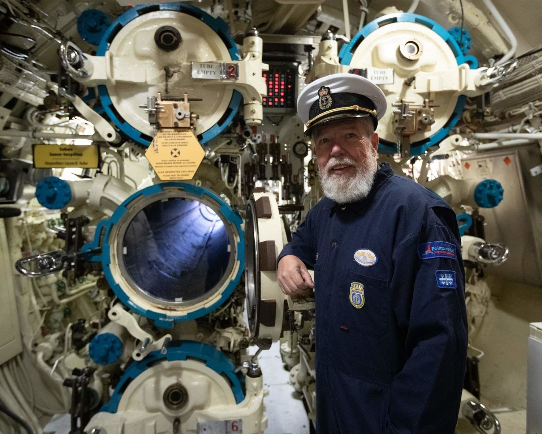 Captain Albéric Gallant in the Onondaga submarine