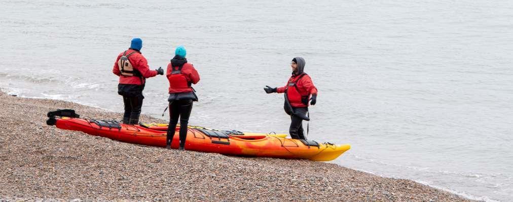 Michael kayaking in Gaspé