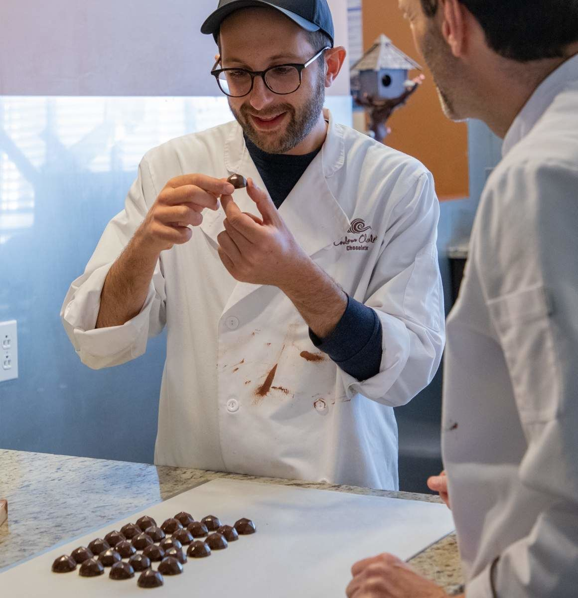 Michael and Carl Pelletier of Couleur Chocolat making chocolate