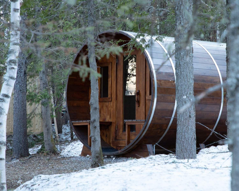 Sauna au Repère Boréal, au Québec
