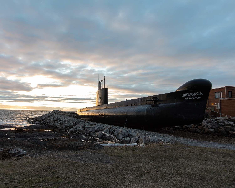 Onondaga submarine in Pointe-au-Père